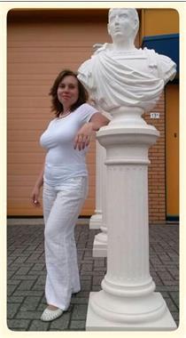 Grote foto witte zuilen verhuur griekse pilaren 0599 416200 diensten en vakmensen trouwen