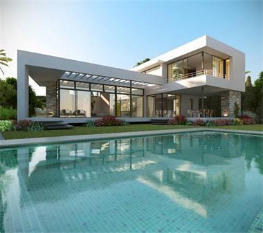 Grote foto moderne luxe villa nueva andalucia marbella vakantie portugal