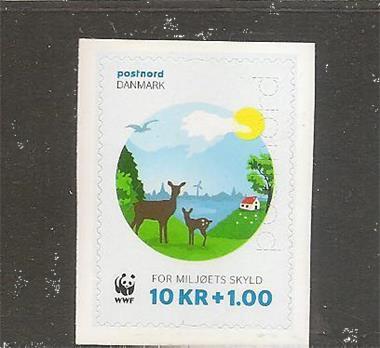 Grote foto hert wwf denemarken postzegels en munten scandinavi