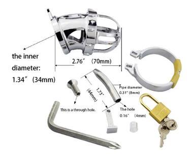 Grote foto metalen kuisheid apparaat met urethrale sound k30 erotiek kuisheidskooien