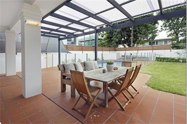 Grote foto infrarood terrasverwarming tuin en terras terrasverwarmers