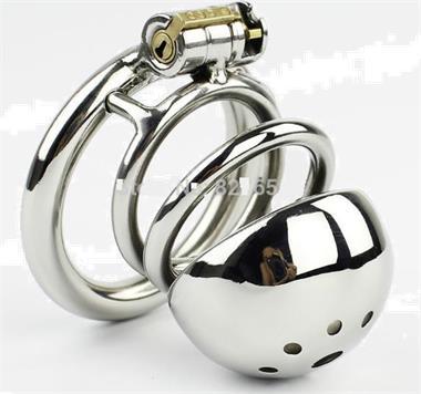 Grote foto nieuwste design rvs mannelijke kuisheid apparaten erotiek kuisheidskooien