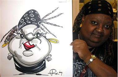 Grote foto sneltekenaar karikaturist diensten en vakmensen feesten