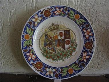 Grote foto herdenkingsbord van h.m.juliana en prins bernard antiek en kunst wandborden en tegels