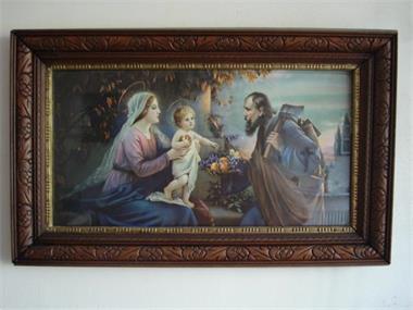 Grote foto religieuze schilderijen antiek en kunst religie