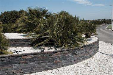 Grote foto muurdecoratie wandbekleding mediterraanse stijl tuin en terras tuindecoratie