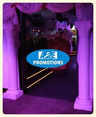 Grote foto verhuur witte decoratie zuilen pilaren 0599416200 diensten en vakmensen entertainment