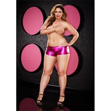 Grote foto twerk it short plus size roze kleding dames grote maten