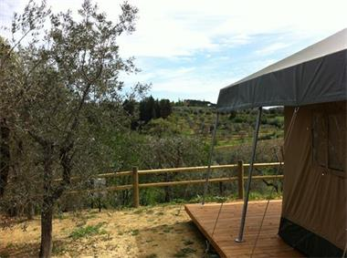 Grote foto glamping safaritent in toscane vakantie italie