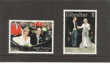 Grote foto edward and sophie trouwerij gibraltar postzegels en munten thematische zegels