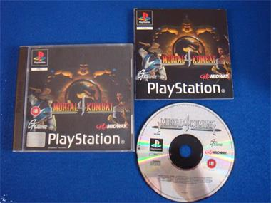 Grote foto ps1 mortal kombat 4 spelcomputers games playstation