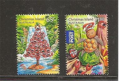 Grote foto cristmas 2015 cristmas island postzegels en munten thematische zegels