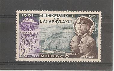Grote foto monaco discovery of anaphylaxis postzegels en munten overig