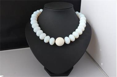 Grote foto gefacetteerde opaliet koraal set sieraden tassen en uiterlijk kettingen