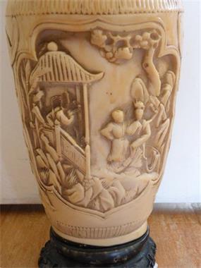Grote foto vaas met prachtige afbeeldingen. antiek en kunst vazen