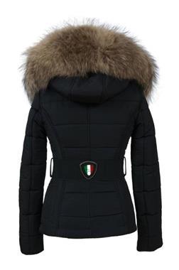Grote foto dames winterjassen met bontkraa leathercity kleding dames jassen winter