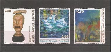 Grote foto moderne art groenland postzegels en munten scandinavi