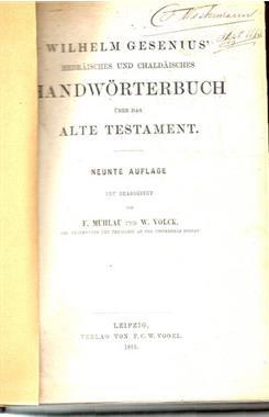 Grote foto hebraeisches und chaldaeisches handwoerterbuch boeken religie