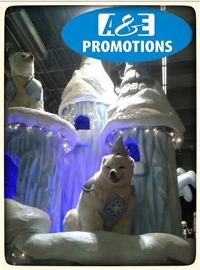Grote foto grote ijsbeer staand verhuur brugge gent hasselt diensten en vakmensen themafeestjes