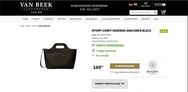Grote foto anaconda black myomy carry handbag kleding dames damestassen
