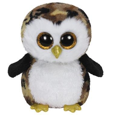 Grote foto ty beanie boo owliver 24cm kinderen en baby knuffels en pluche