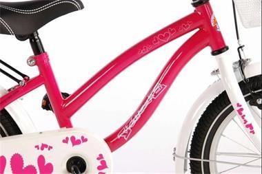 Grote foto heart roze 16 inch meisjesfiets 95 afgemonteerd fietsen en brommers kinderfietsen