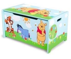 Grote foto winnie the pooh houten opbergkist kinderen en baby complete kinderkamers