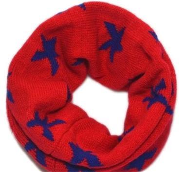 Grote foto kol sjaal stars rood blauw kinderen en baby overige