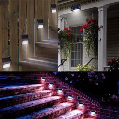 Grote foto led solar buitenlamp buiten tuin hang lamp zonnepaneel rvs tuin en terras verlichting