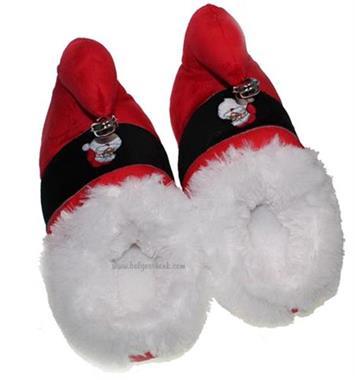 Grote foto kerst pantoffels met belletje diversen kerst
