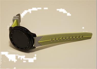 Grote foto horlogeband gear s3 grijs lime kleding dames sieraden