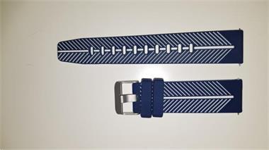 Grote foto horlogeband gear s3 blauw wit kleding dames sieraden