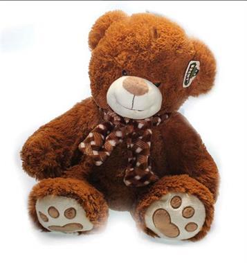 Grote foto beer bruin 56 cm knuffel kinderen en baby knuffels en pluche