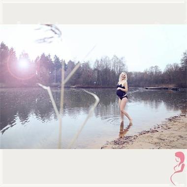 Grote foto petit amour positietankini amanda zwart kleding dames badmode en zwemkleding