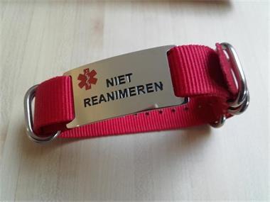 Grote foto niet reanimeren armband van nylon met plaatje beauty en gezondheid gezondheidssieraden