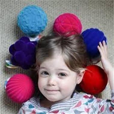 Grote foto rubbabu top ball geel 10cm kinderen en baby overige