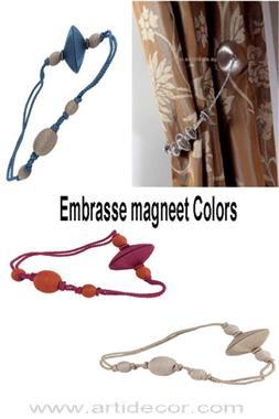 Grote foto embrasse magneet colors leverbaar in 12 kleuren huis en inrichting gordijnen en lamellen