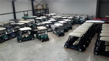 Grote foto golfkar golfcar clubcar precedent sport en fitness golf