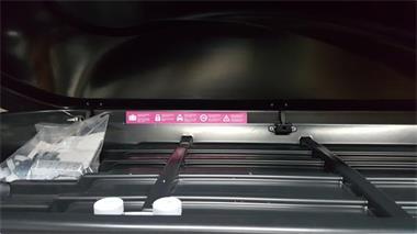 Grote foto bagagebox skibox dakkoffer sx2 500ltr 190cm auto onderdelen dakdragers en skiboxen