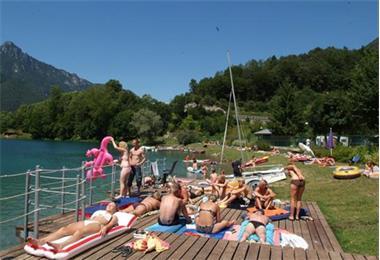 Grote foto direct aan ledromeer n itali trentino tent huren vakantie italie