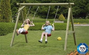 Grote foto enkele schommel prestige garden easy swing kinderen en baby houten speelgoed