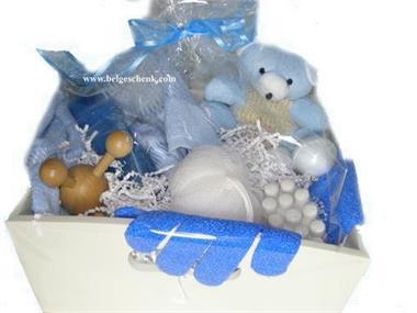 Grote foto bad geschenkpakket in blauwtinten beauty en gezondheid lichaamsverzorging
