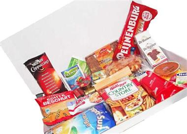 Grote foto brievenbusontbijt ontbijtservice per post zakelijke goederen cadeautjes