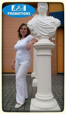 Grote foto grote witte pilaren verhuur witte zuilen verhuur diensten en vakmensen kerst