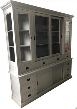 Grote foto buffetkast vleuten grijs grijs 225cm breed huis en inrichting buffetkasten