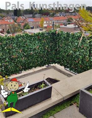 Grote foto kunsthaag photinia rood heester kunsthaag tuin en terras hekken en schuttingen