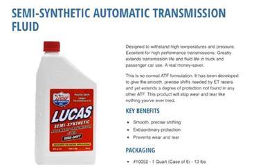 Grote foto lucas atf sure shift oil. 1 liter verpakking artikelnummer auto onderdelen overige auto onderdelen
