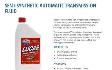 Grote foto lucas atf sure shift. 5 liter verpakking artikelnummer 1016 auto onderdelen overige auto onderdelen