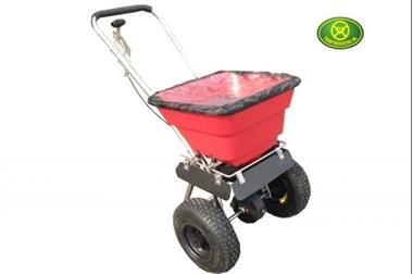 Grote foto kunstmeststrooier zoutstrooier roteerstrooier 36 kg heavy du tuin en terras tuingereedschap