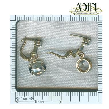 Grote foto oorbellen met rose cut uit de art deco periode sieraden tassen en uiterlijk oorbellen